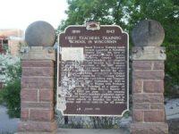 Historic Marker, First Teachers School in Wisconsin. Along Highway 52 in Wausau.