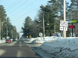 Highway 155 Northbound start in winter