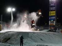 Championship Snowmobile Derby racing