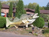 National Freshwater Fishing Hall of Fame grounds - fiberglass fish