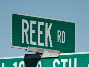 Quirky Street Names in Wisconsin - like Reek Road