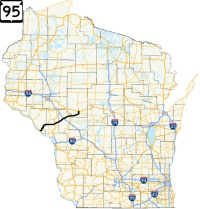 Highway 95 Wisconsin route map