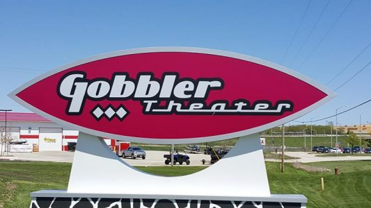 Gobbler Theater sign, 2016