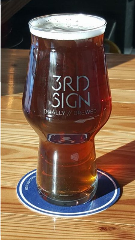 3rd Sign Brewery pint glass