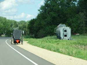Amish wagon along Highway 95 east of Blair, Wisconsin
