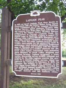 Lapham Peak Marker