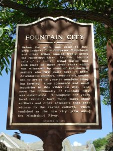 Fountain City Historic Marker, along Highway 35 just south of Highway 95.
