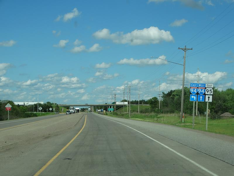 Wisconsin Highway 95 approaching I-94