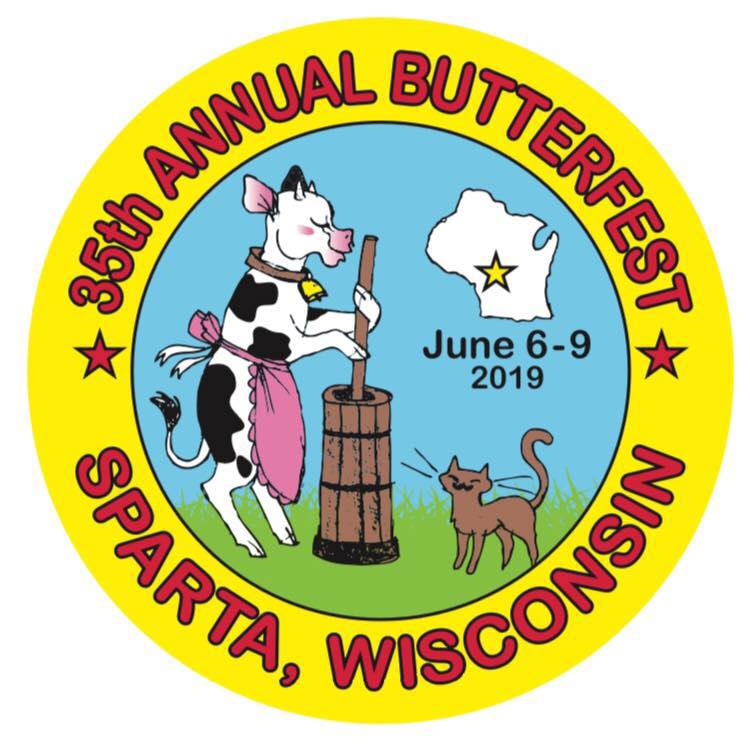 Sparta Butterfest button for 2019