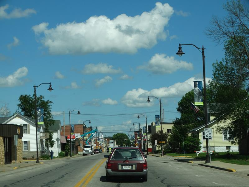 Highway 95 in downtown Arcadia, Wisconsin