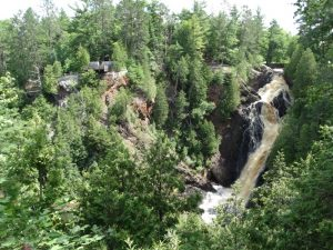 Big Manitou Falls off Highway 35 near Superior