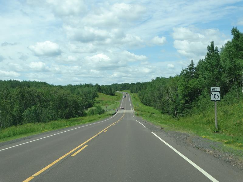 Highway 105 westbound west of Superior