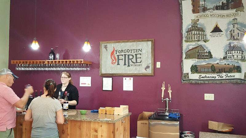 Forgotten Fire Winery sampling