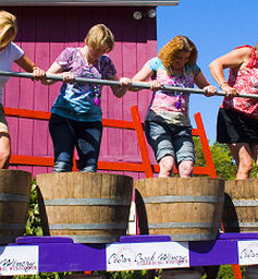 Cedarburg Wine Harvest Festival grape stomp