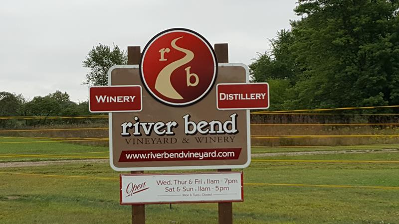 River Bend Winery, front sign