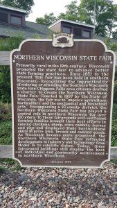 Chippewa Falls' Northern Wisconsin State Fair historic marker