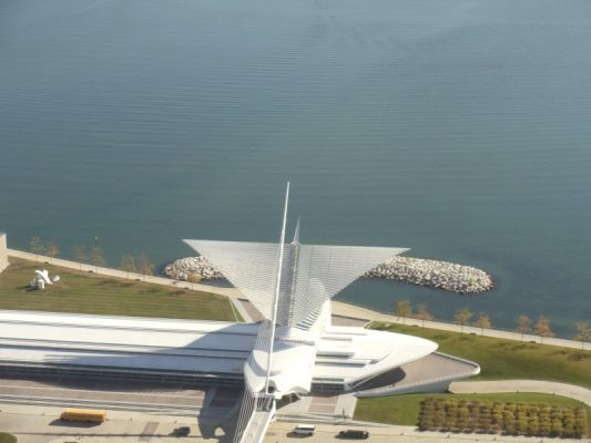 Milwaukee Art Museum from US Bank Tower, Milwaukee