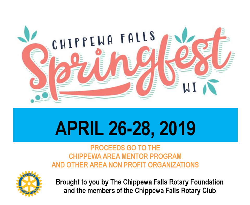 Springfest Chippewa Falls logo header with info