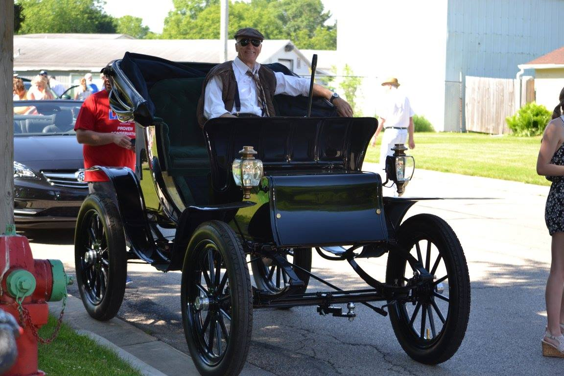 Copperfest in Oconto, 1907 Waverly electric car