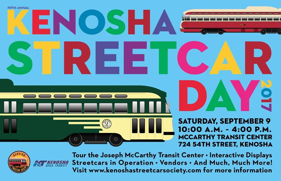 Kenosha Streetcar Day poster