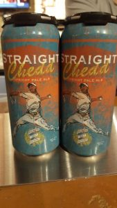Broken Bat Brewery cans of Straight Chedd Apricot APA, Milwaukee