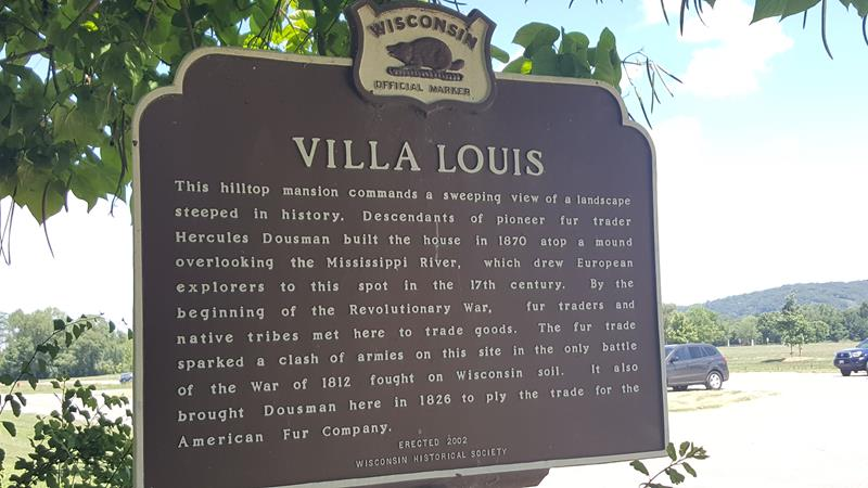 Villa Louis Historic Marker