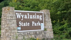 Wyalusing State Park Welcome Sign