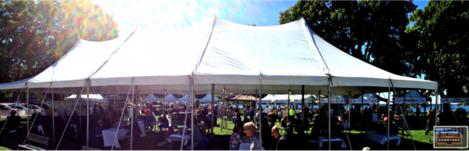 Taste of Lake Geneva tent