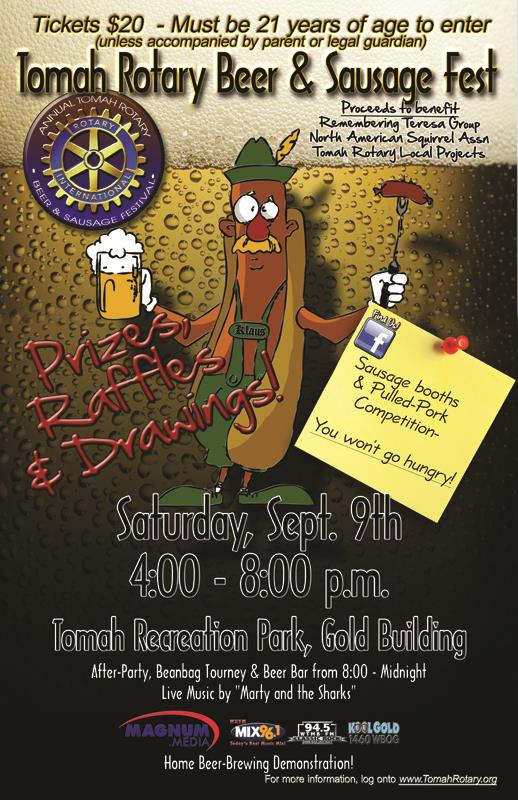 Tomah Beer & Sausage Festival 2017 Poster