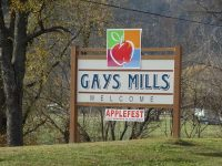 Gays Mills welcome sign along Highway 131