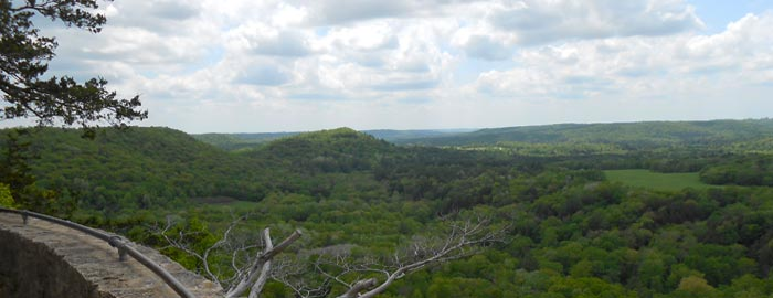 Wildcat Mountain view, courtesy of the WI DNR