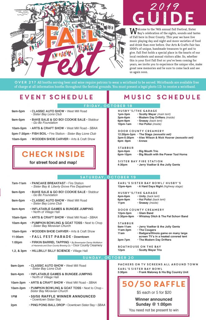 Sister Bay Fall Fest 2019 Guide