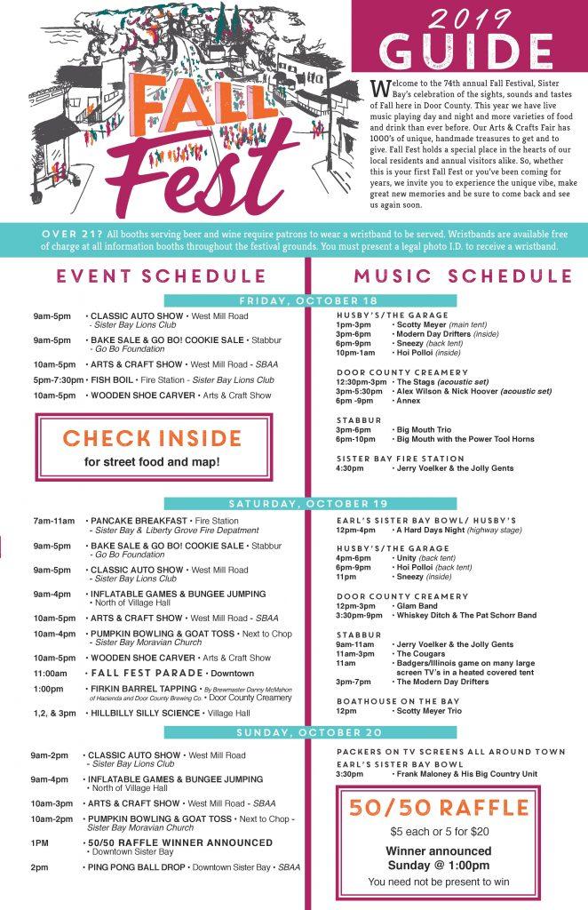 Sister Bay Fall Fest 2019 Guide