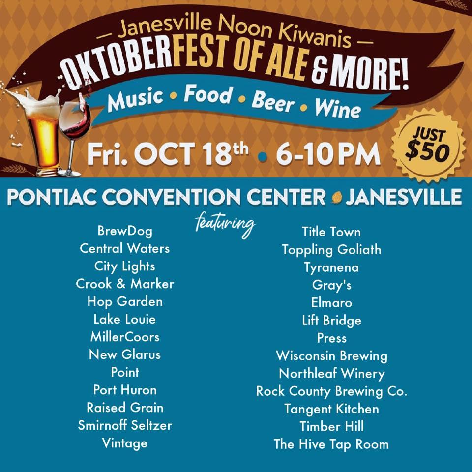 Janesville Kiwanis Fall Fest of Ale 2019