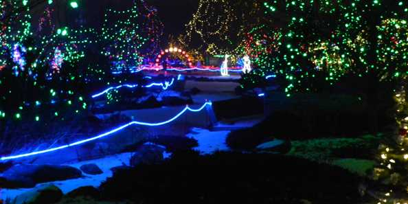 Marshfield Rotary Winter Wonderland at Wildwood Zoo, Holiday Lights Wisconsin
