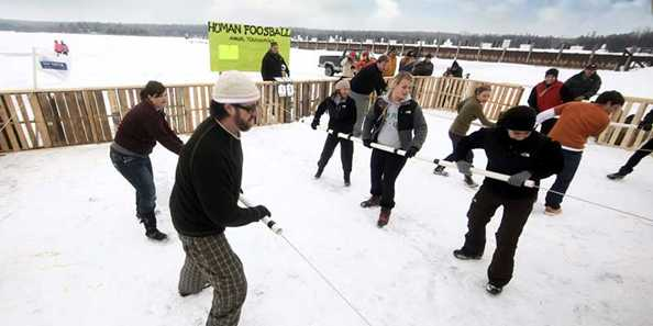 Fish Creek Winter Festival human foosball