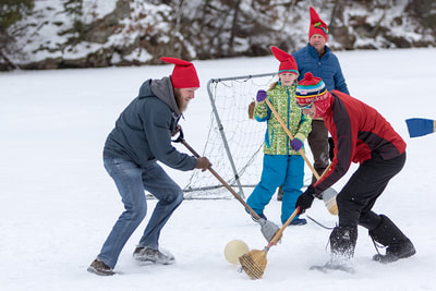 Scandihoovian Winter Festival broom hockey