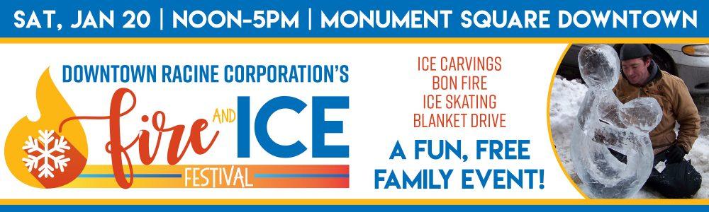 Racine Fire & Ice Festival banner