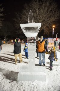 Ice Sculpting at Waukesha JanBoree