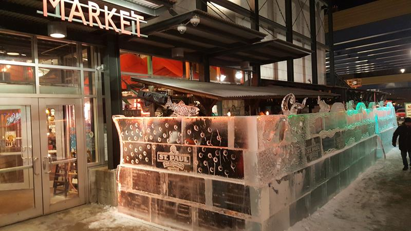 Public Market ice bar at entrance