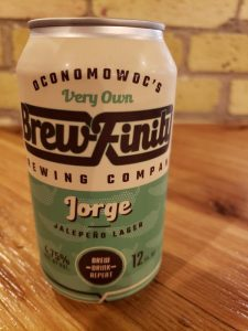 Brewfinity Brewing's Jorge jalapeno beer in a can