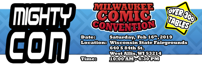 Milwaukee Comic Con 2019 banner