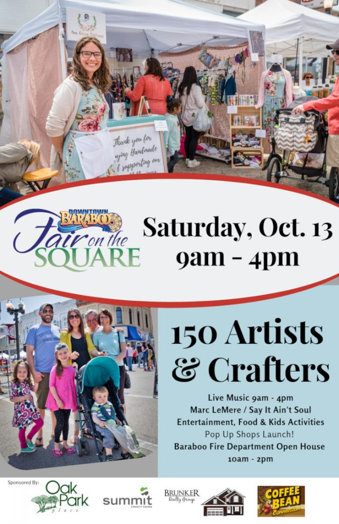 Downtown Baraboo Fair on the Square poster, October 2018