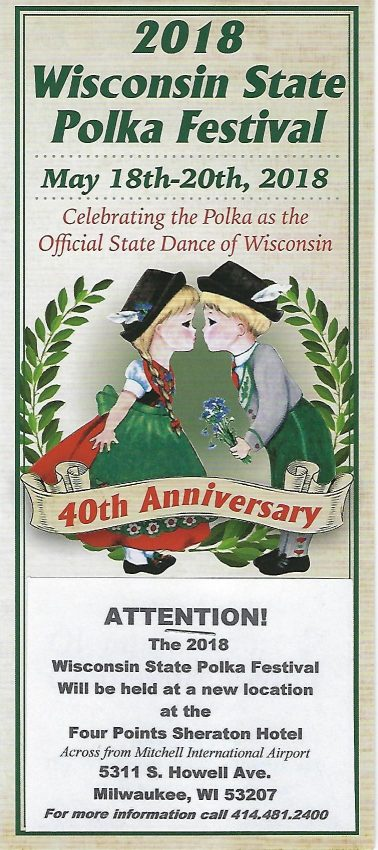 Wisconsin State Polka Festival poster 2018