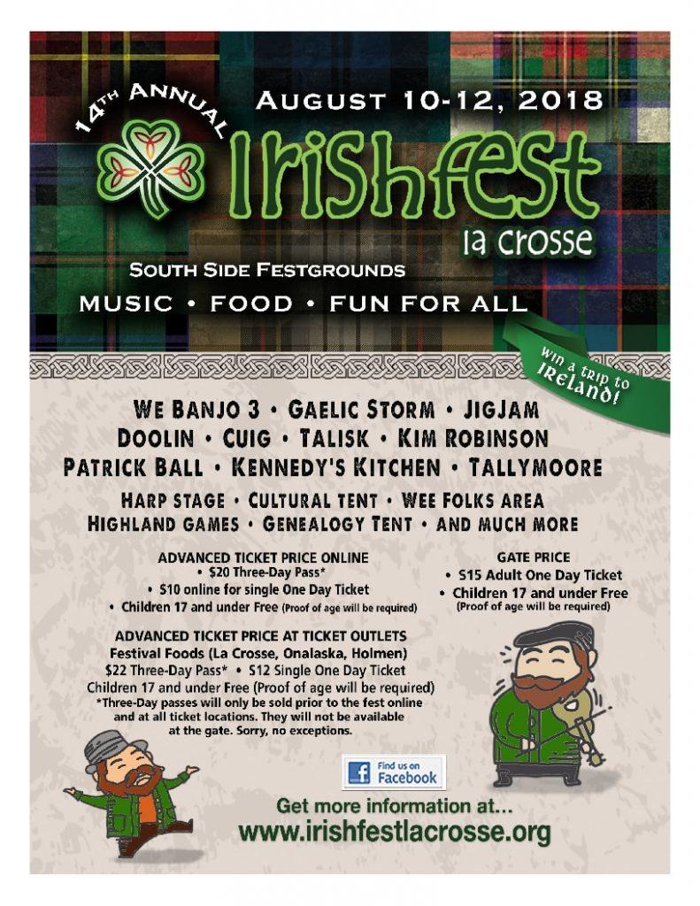 Irishfest La Crosse event poster