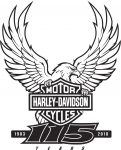 Harley 115th Milwaukee Rally logo