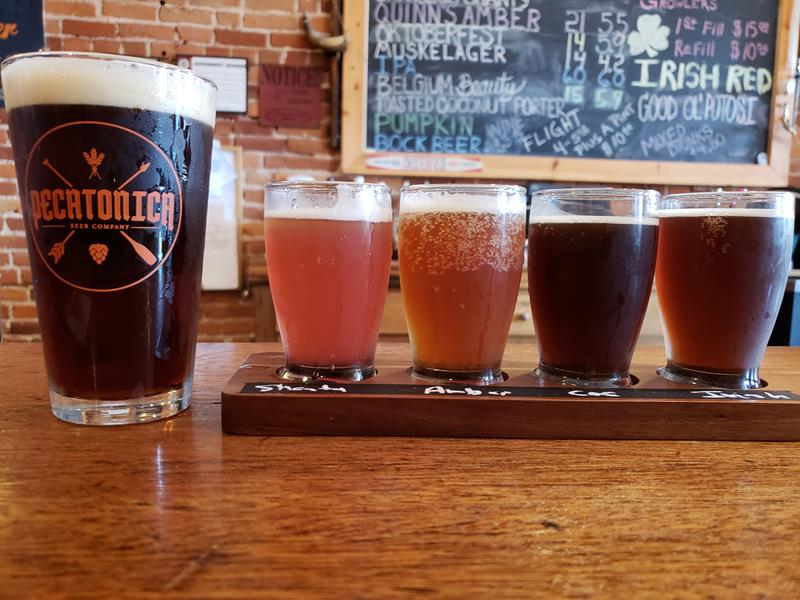 Pecatonica Beer sample sampler