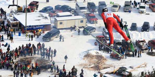 Snowflake Ski Jump during competition