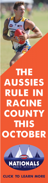 Aussie Rules Football Championships, Racine, Oct 13-14, 2018