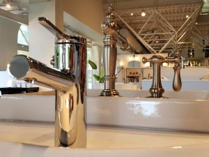 A sea of faucets at the Kohler Design Center